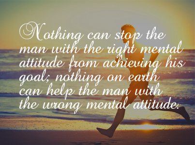 Nothing Can Stop The Man: Mental Attitude