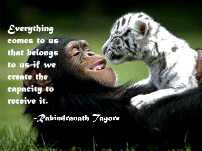 Everything Comes To Us That Belongs To Us Rabindranath Tagore