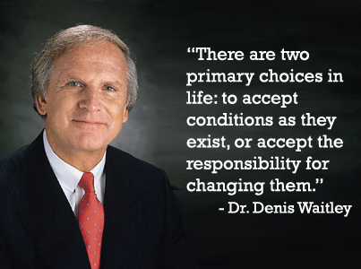 There Are Two Primary Choices Dr. Denis Waitley