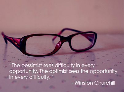 The Pessimist Sees Difficulty Winston Churchill