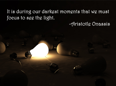 Focus to see the light - ARISTOTLE ONASSIS